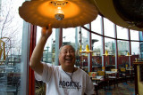 I hit my head on the lamp