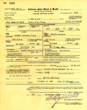 Doris Ning Jeong Birth Cerificate