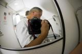 self portrait in the lavatory