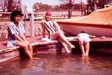 Lynn(Erica), Carlene and Ramona at Clearlake 1962