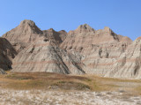 badlands on a clear day
