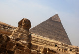 The Sphinx ...and a Pyramid