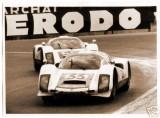 Porsche 906s of Gregg-Axelsson 33 and Klass-Stommelen 58, Le Mans 1966