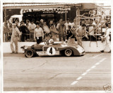 Regazzoni brings battered Ferrari 312PB after his off - He and Redman went on to finish 4th - 24Hrs Daytona 1972.jpg