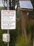 Sign at Pieman River Ferry