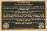 About Oatlands' dry walls