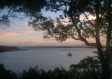 Evening view over Macquarie Harbour