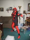 This is Deadpool, his favorite (by far) Marvel comics character.