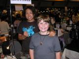 Brendon's favorites artist, Take (ta-kay).  Take made AWESOME boro pendants, Brendon is wearing his proudly.