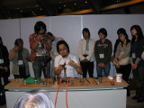 Ryo Ono doing a demo.  Awesome guy, we got to know him well later in the trip.