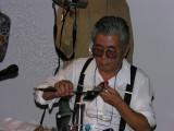Aki's dad - Yasuhiro Ohkama, a veterinarian who began making beads about 6 years before Aki, and eventually taught Aki
