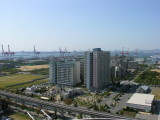 10/21 - View of Kobe harbor from our room balcony.