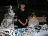 Artist Ayako Hattori - she had LOTS of awesome marbles and beads.  I bought just a few marbles.....