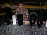 Artist Brad Pearson  - he had a really nice selection of marbles and beads on Sunday.