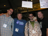 Paul, Matt, Devin and I. Yeah, Matt looks stoned, but Paul looked stoned in the 2nd try, heh heh.