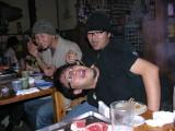 Mizu and Yoshio clowning....