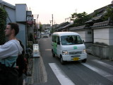 This was a TWO-lane road in Nara, and actually much wider than some.  Crazy driving, but I never saw an accident.