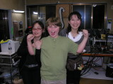 Nothing like a couple of Japanese chicks hanging on a 10-year-old's arms.
