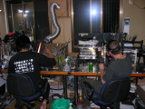 Aki and Devin at work on the boro torches.