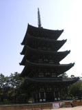 There seemed to be a tall skinny temple like this near all the main temples.  Didn't learn the significance.