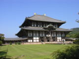 Todai-ji, the world's largest wooden structure, housing the world's largest Buddha.