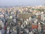 Looking out over Osaka, stretching for miles.