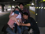 10/26 - At the train station, time to head to Tokyo for the remainder of our trip.  Becky made Aki cry.