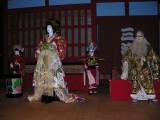 A stage setup, showing a Geisha ceremony.