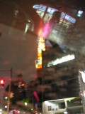 A driving shot of the lit up Tokyo Tower which we would visit on Monday.