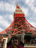 Next, on to the Tokyo Tower!!  It was modeled after the Eiffel Tower.