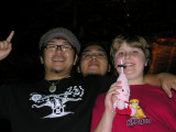 Yoshio, Ono and Brendon, who had to have a plushie toy of the Tokyo Tower mascot, ha ha.