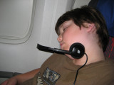 Wish I could have slept like this on the way there, ha ha.  It was 5pm on 10-18 when we arrived!