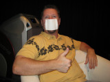 In Japan, it is polite to wear a mask when you are sick so as not to infect others.  Hated it, it was hot.