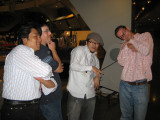 Late party antics - Aki, Josh, our new friend Yoshio, and Paul.