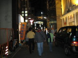 Wandering downtown Kobe, looking for our restaurant.  I really enjoyed that.