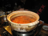 FIRE soup.  Holy cow, this stuff was hot, even though it was supposedly a '3' on a spicy scale of 1 to 21.