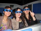 It was a SWEET 3-D ride, lot of fun.  Wakana, Emiko and Yuko model the eyewear.