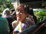 Wakana is ready!  See Brendon in front of her, ha.