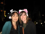 Lots of silly hats to go around - Yuko and Bec.