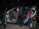 Aki worked to try and fit ALL 15 of us in these 2 cars, with luggage.They had Brendon on CherryBoys lap for a while (blk jacket)