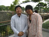 Next stop was Osaka Castle and Museum.  Which one is Aki and which is Yoshio?