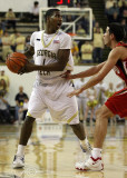 Georgia Tech G Shumpert waits for the offence to get set
