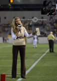 Erin Andrews of ESPN reports during the pre-game show