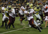 Virginia Tech TB Branden Ore cuts into an open lane
