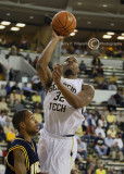 Tech F Smith shoots from under the basket