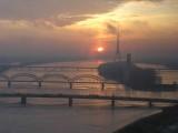 Dawn over Daugava river