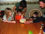 Blow the candles out now...my back starting to hurt!!  2nd Birthday