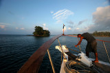 Gadi on the bow