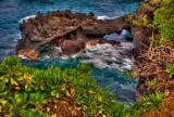 Rock formation, Wainapanapa State Park, Maui, Hawaii