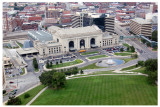 I took this shot of Union Station from atop the Liberty Memorial Monument tower.